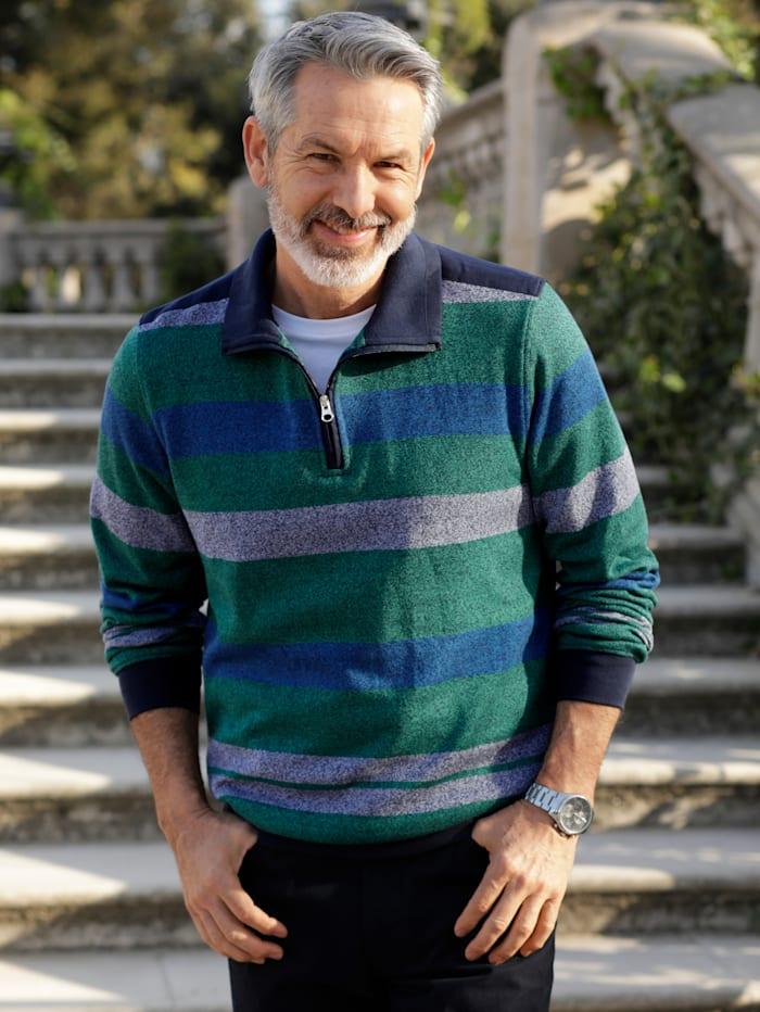 BABISTA Sweatshirt in zweifarbiger Optik, Grün/Blau