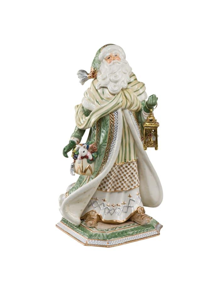Fitz&Floyd Fitz&Floyd Figur Santa im grünen Mantel, Bunt