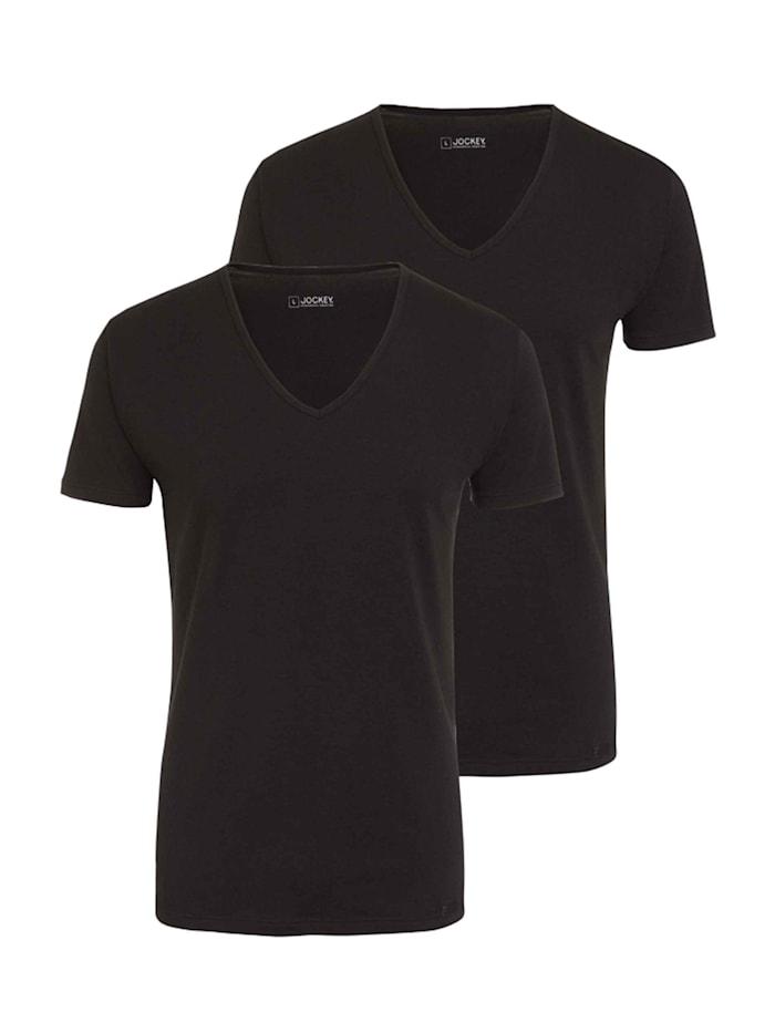 V-Shirt, 2er-Pack Ökotex zertifiziert