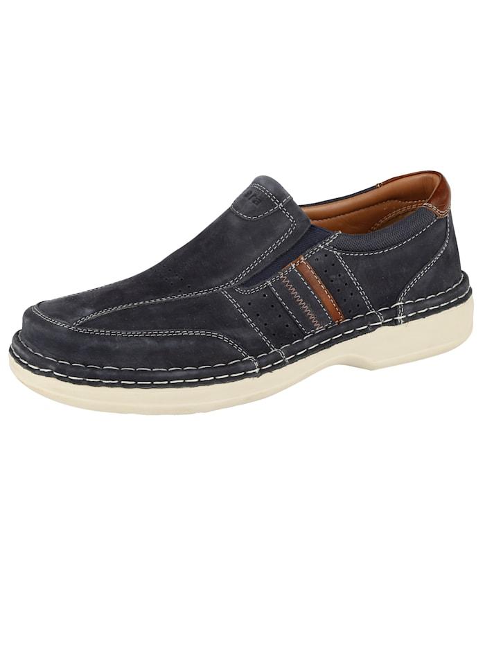 Ara Slipper in Spezialweite K für kräftige Füße, Marineblau
