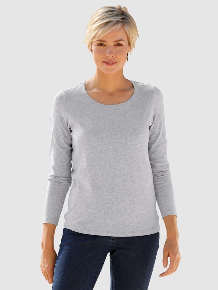 Dress In Topp i behagligt bomullsmaterial, Silvergrå