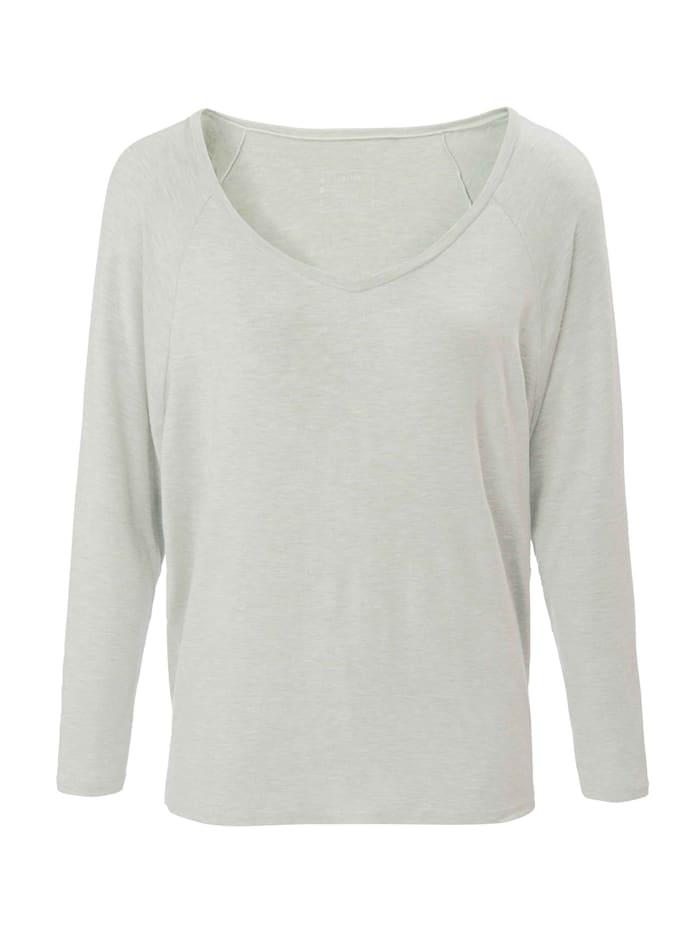 Langarm-Shirt mit V-Ausschnitt Ökotex zertifiziert