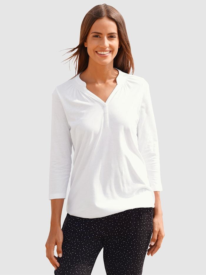 basically you T-shirt à coutures fantaisie, Blanc
