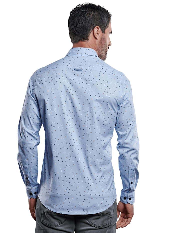 Popeline-Hemd mit Print