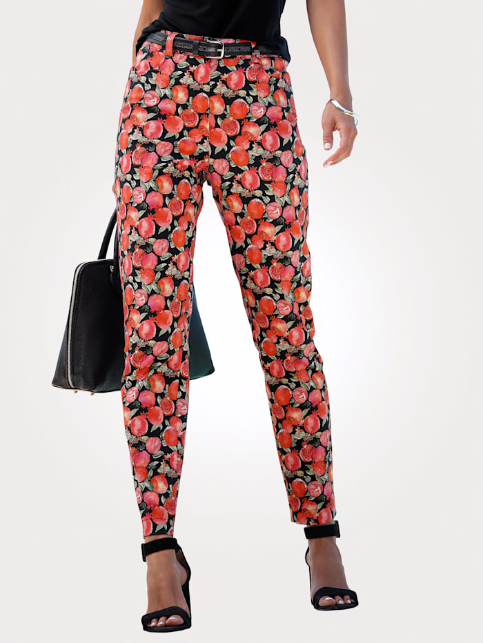 Trousers with a vibrant print