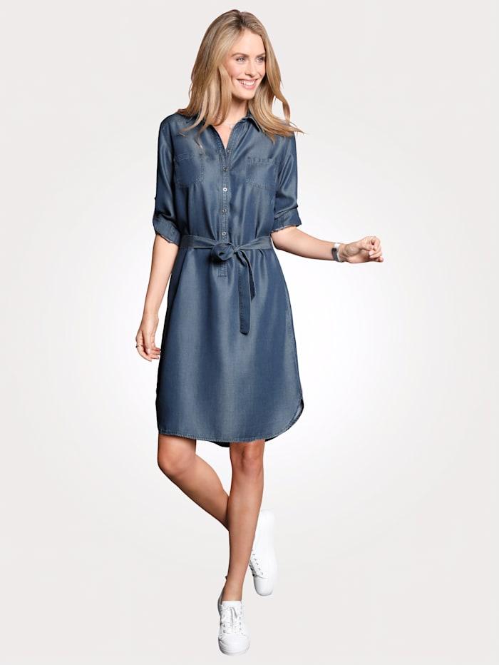 Olsen Kleid in Jeansoptik, Blau