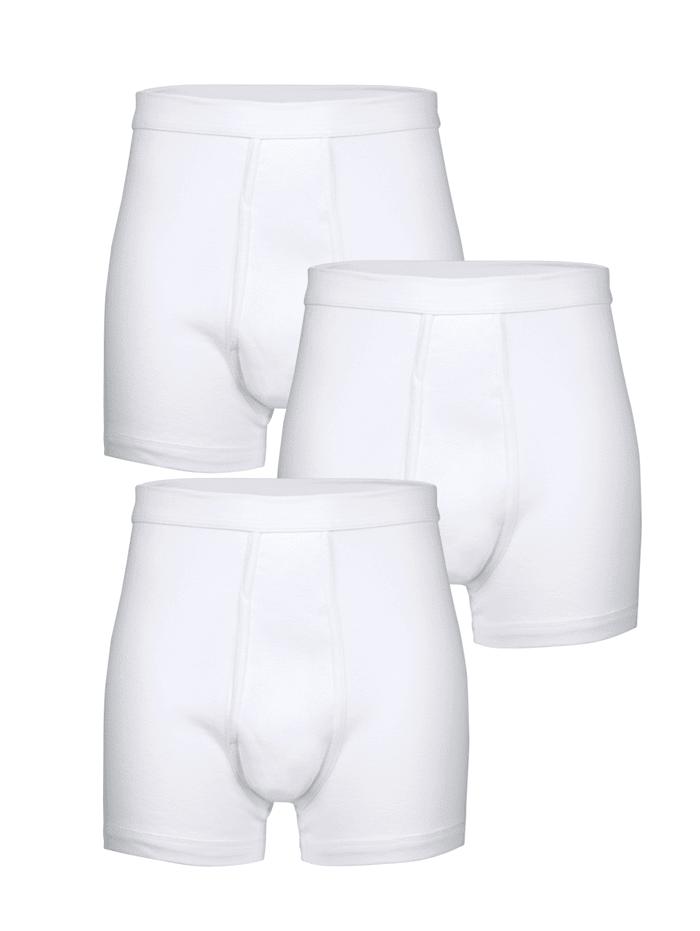HERMKO Boxershorts i kjent merkekvalitet, Hvit