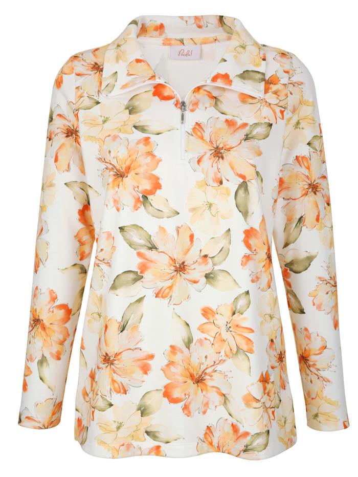 Sweatshirt mit Blumendruck rundum