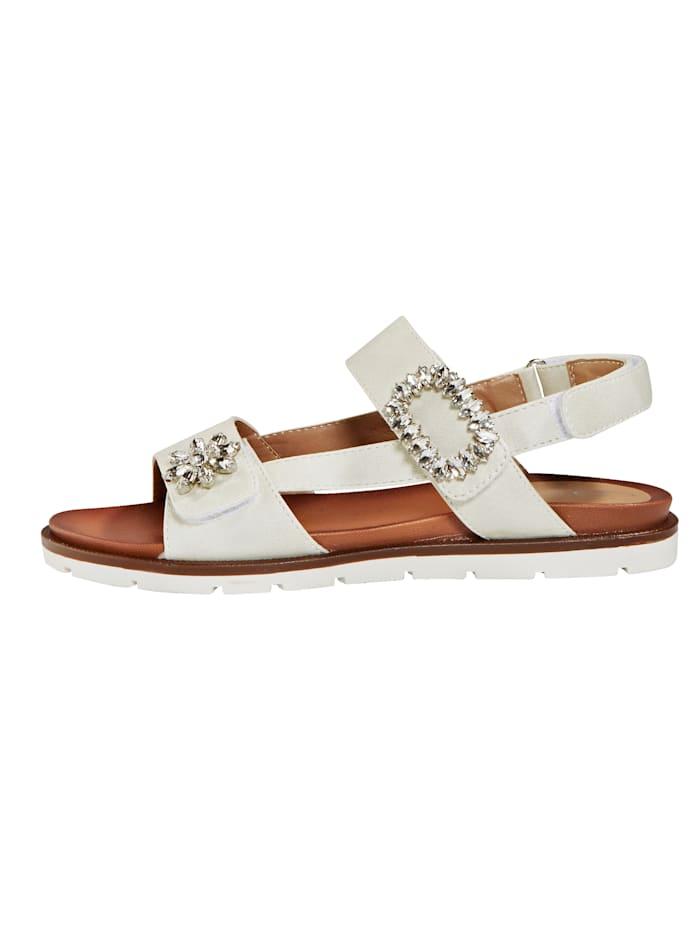 Sandale mit zwei Klettriegeln