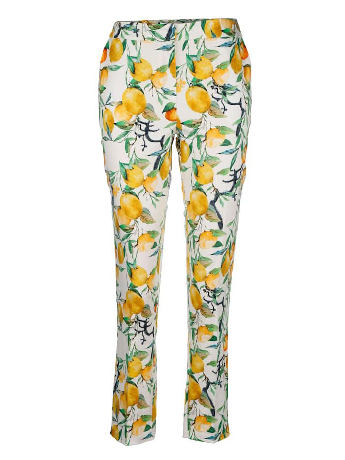 Pantalon 7/8 à motif de citrons estival