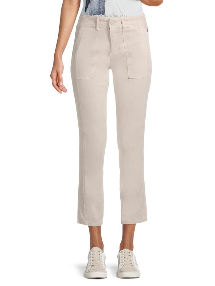 Betty & Co Casual-Hose mit aufgesetzten Taschen, Grau