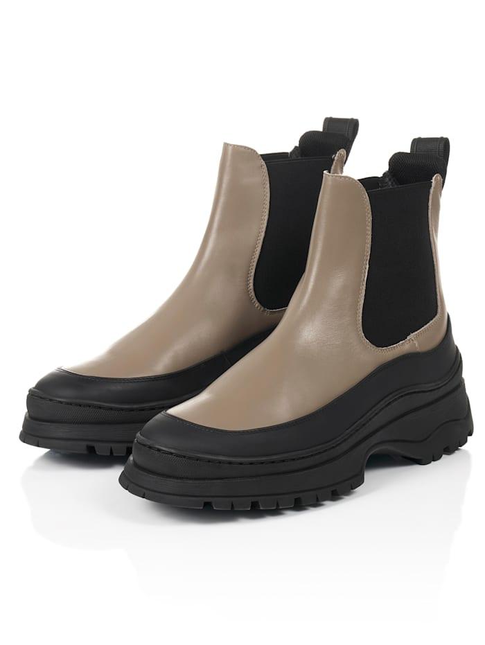 LÄST Chelsea-Boots, Taupe
