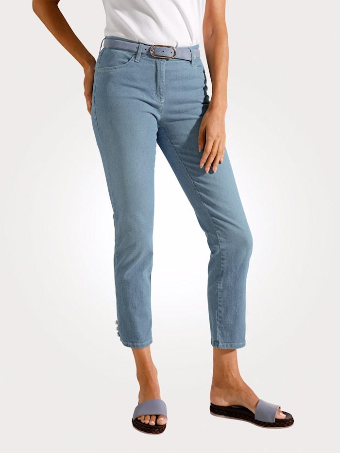 Toni Jeans im schmalen Streifendessin, Blau/Hellblau
