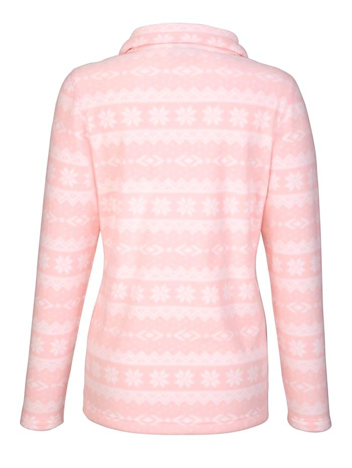 Vestepolaire à impriméde style hivernal