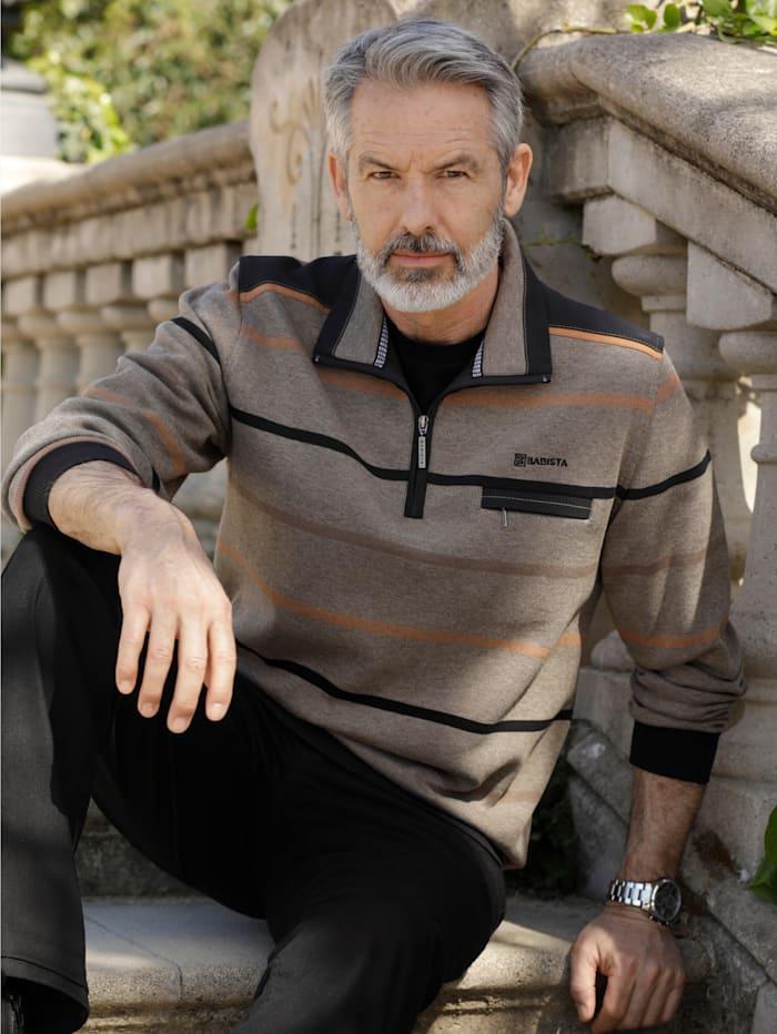 BABISTA Sweatshirt in zweifarbiger Optik, Beige