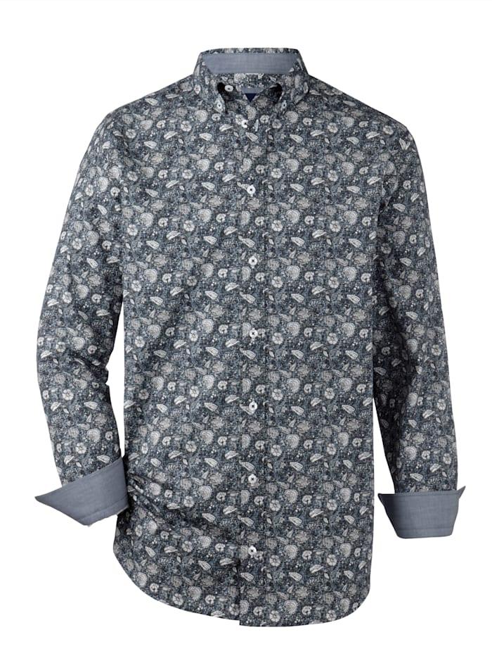 BABISTA Skjorta med blommönster, Blå/Vit
