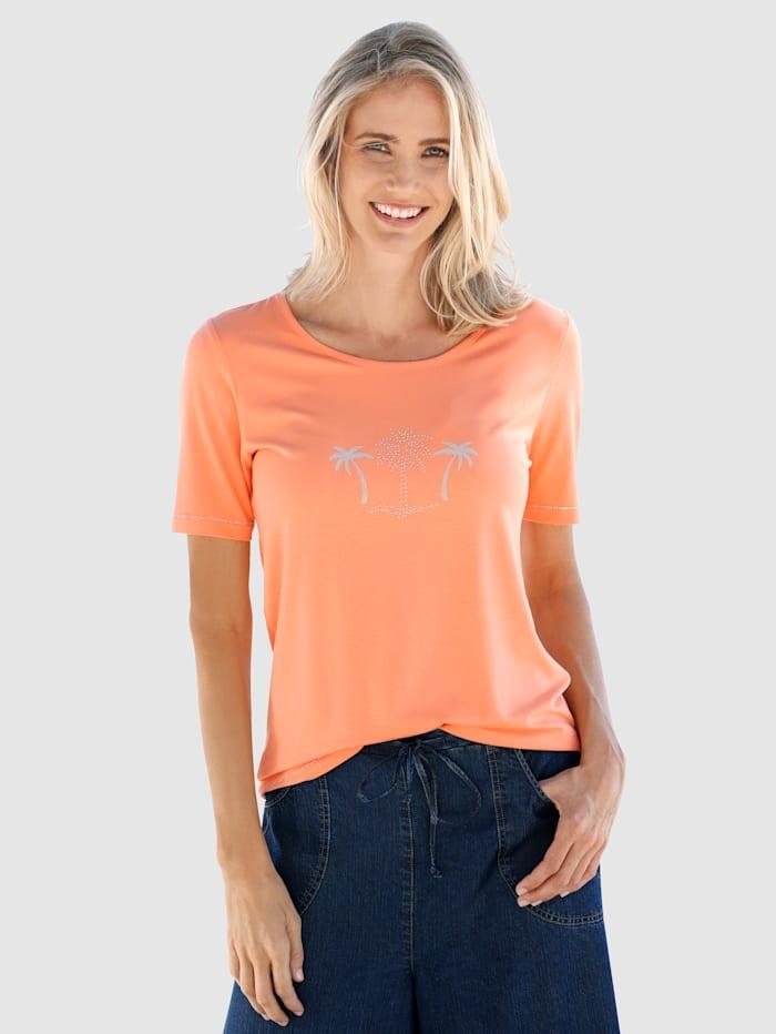 Dress In Shirt mit Palmen, Orange