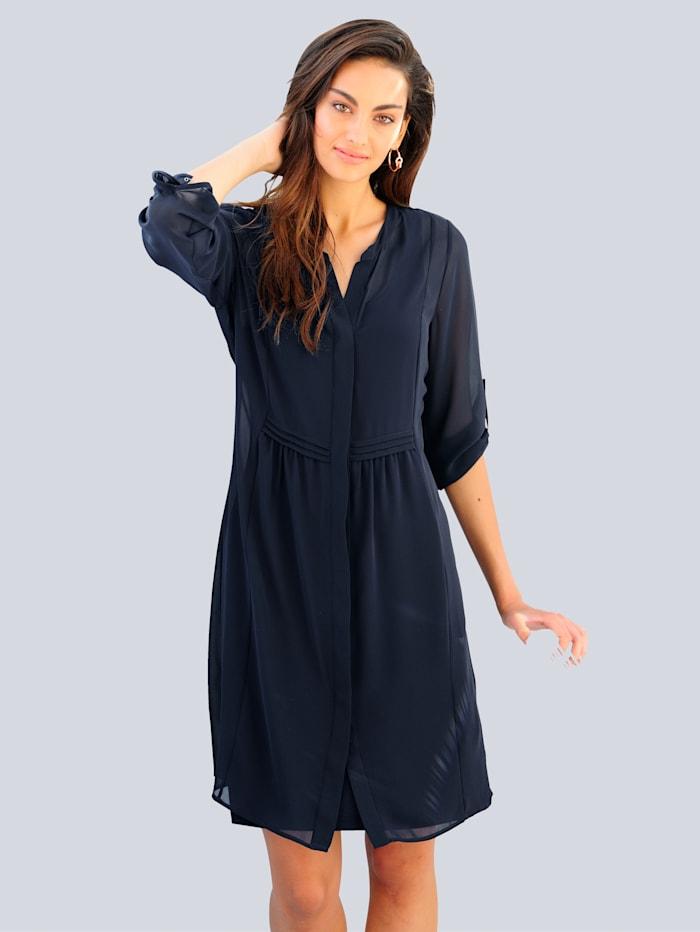 Alba Moda Kleid in Lagenoptik, Marineblau
