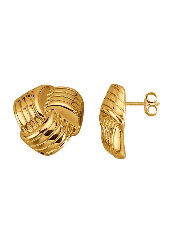 Boucles d'oreilles en argent 925, Coloris or jaune