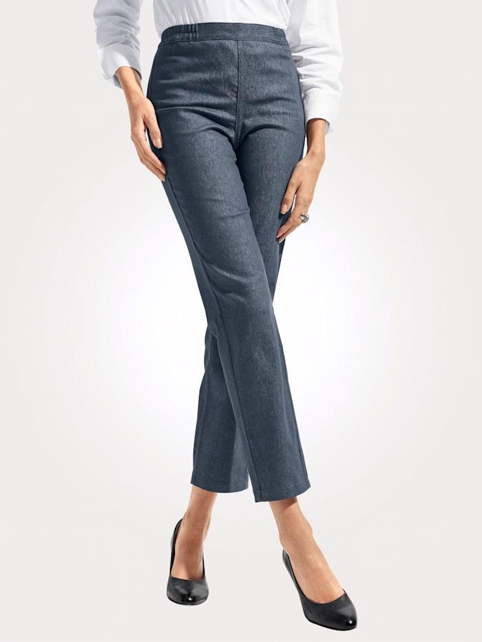 MONA Keerbare jeans met bloemenprint, Lichtblauw/Blauw