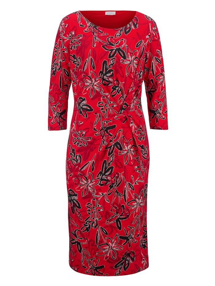 Jersey jurk met flatterende plooitjes
