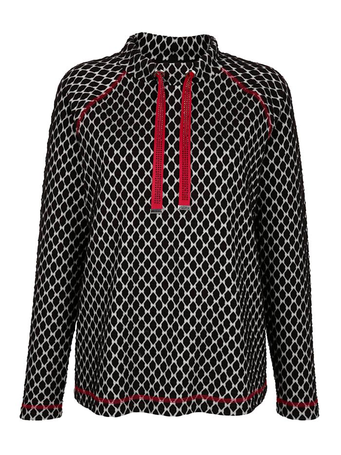 Sweatshirt in Jacquard-Qualität