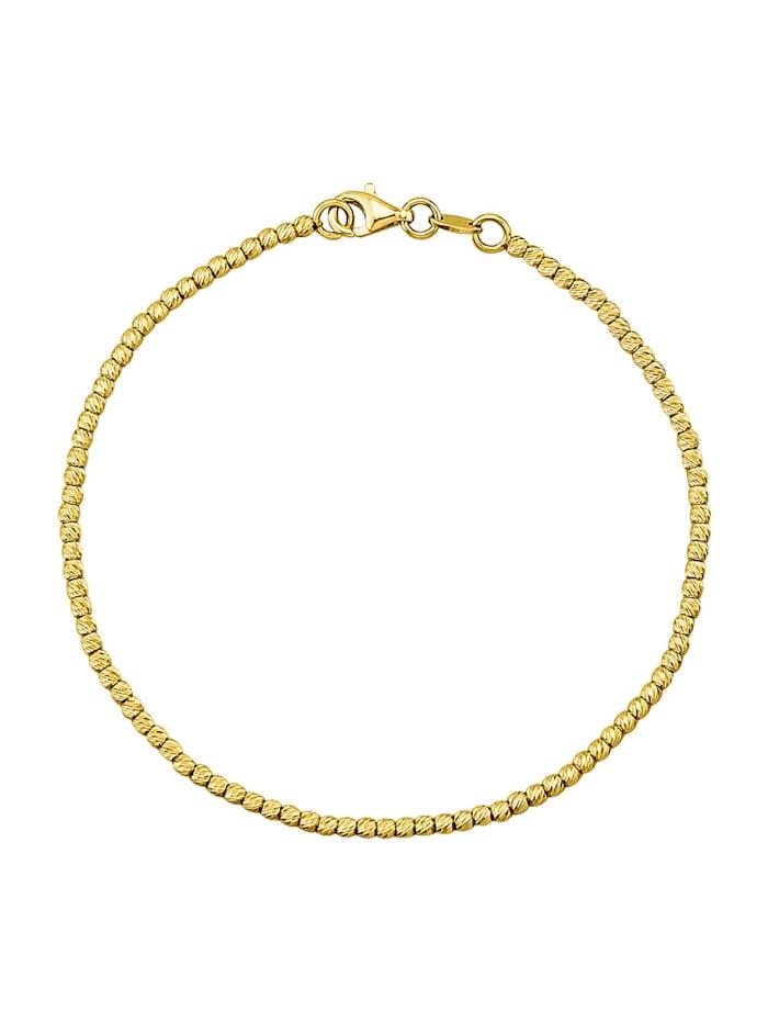 Armband i guld 14 k, Guldfärgad