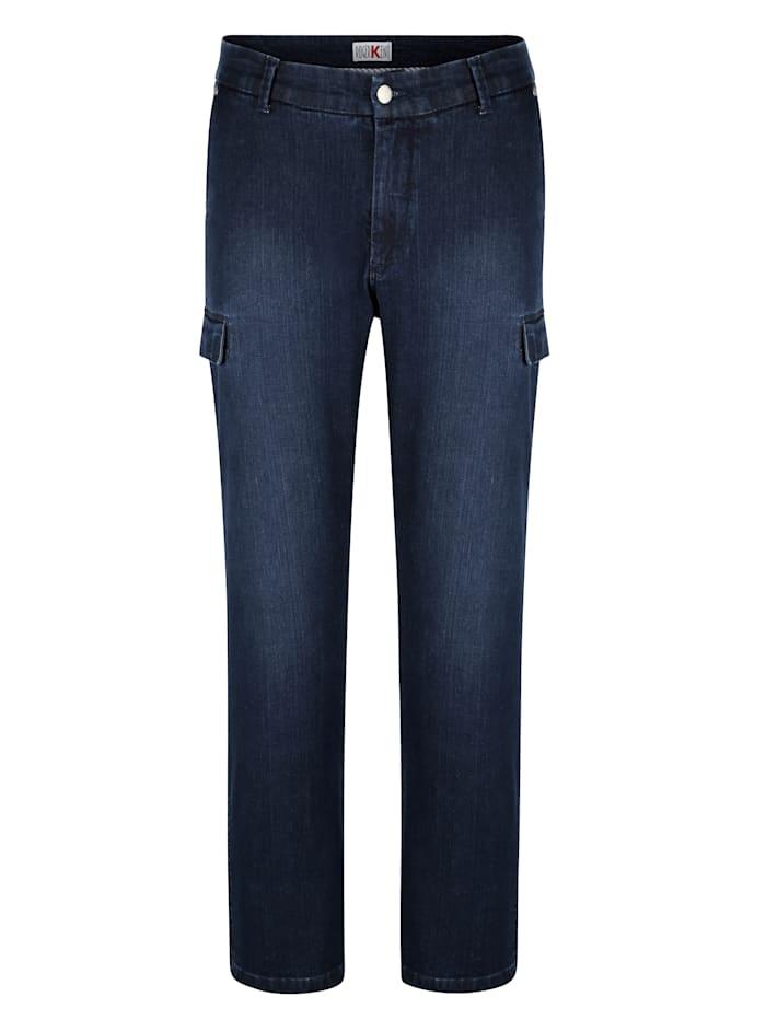 Roger Kent Jeans met cargozakken, Dark blue