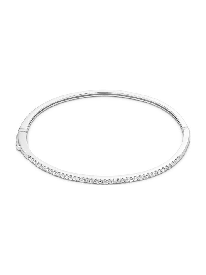 FAVS. FAVS Damen-Armreif Armreif aus Sterling Silber 925er Silber 40 Zirkonia, silber