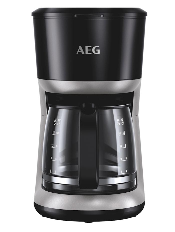 AEG Koffiezetapparaat KF 3300 Perfect Morning, zwart/zilverkleur