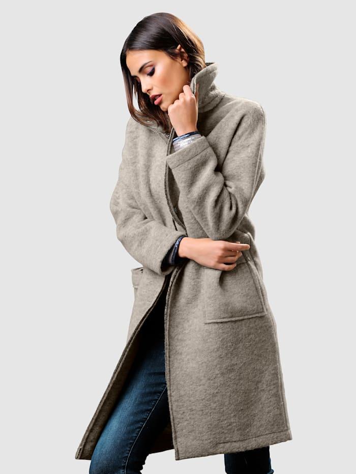 Wollen mantel in trendy look