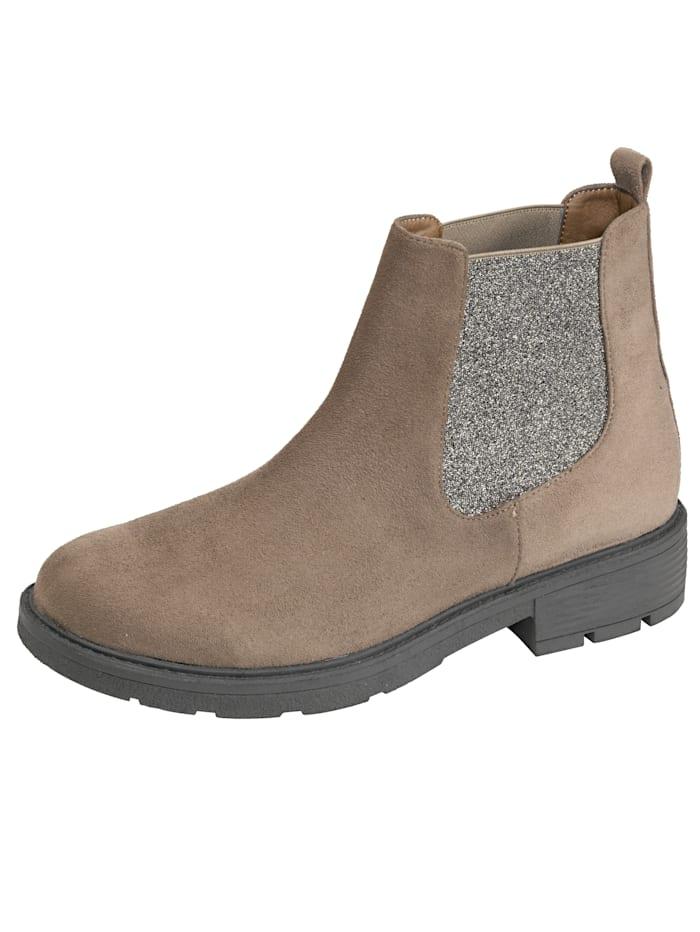 Fitters Footwear Chelsea-Boot mit attraktiven Elasteinsätzen, Taupe