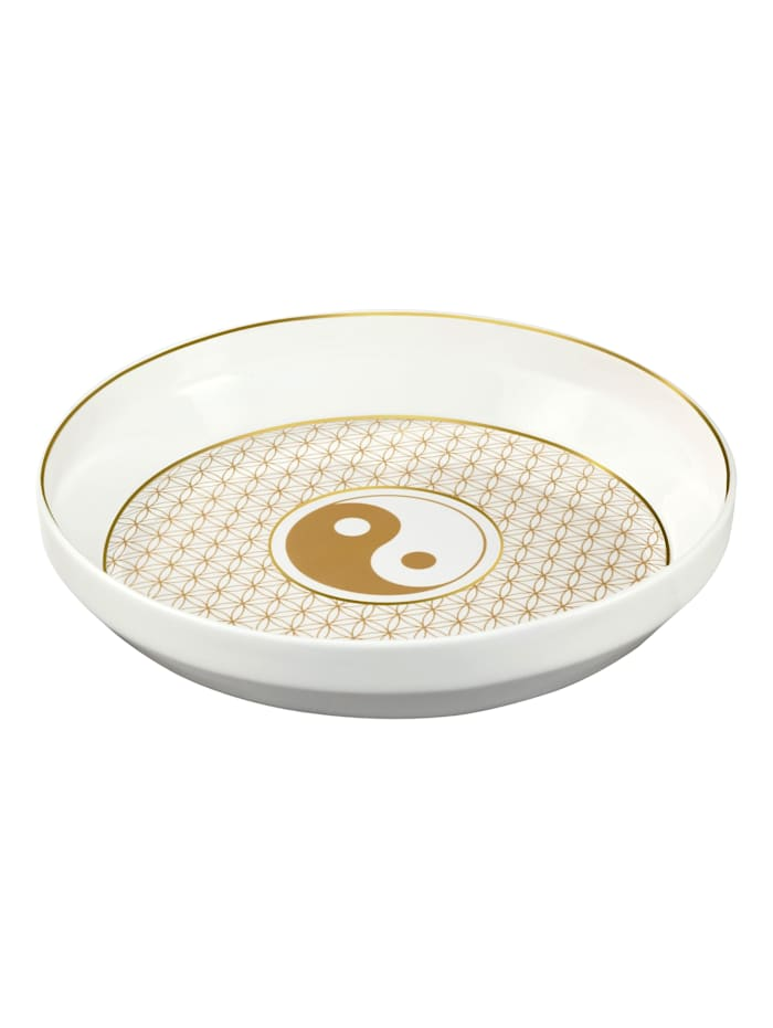 Goebel Schale Lotus - Yin Yang, Schwarz
