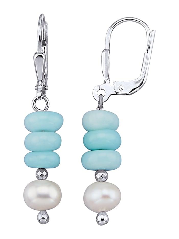 Ohrringe in Silber 925, Blau