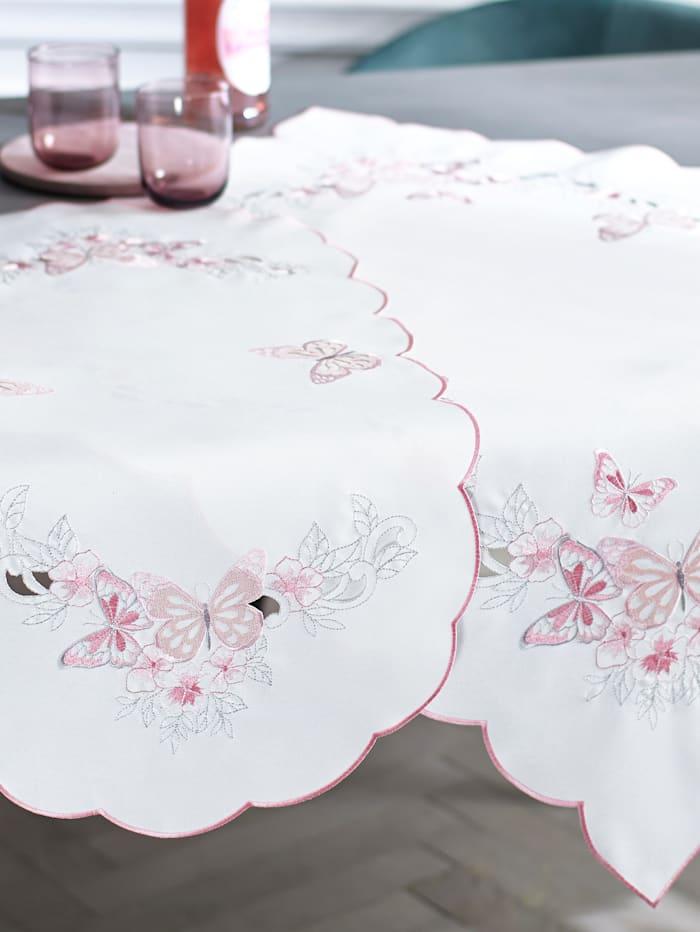 Webschatz Tischwäsche 'Lia', sekt rose