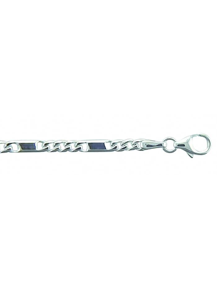 1001 Diamonds Damen Silberschmuck 925 Silber Fantasie Armband 19 cm Ø 2,6 mm, silber