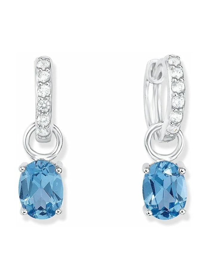 amor Creole für Damen, Sterling Silber 925, Zirkonia, Blau
