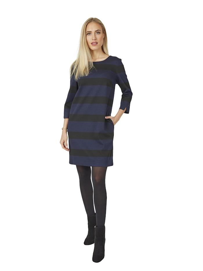 Daniel Hechter Modernes Kleid mit Streifenmuster, black