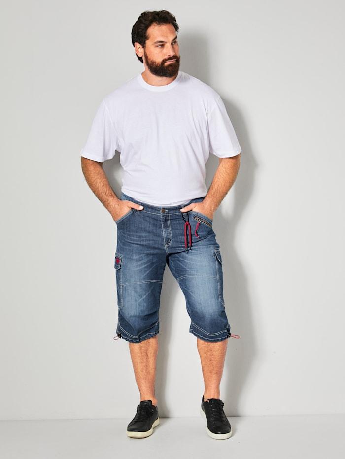 Jeansbermuda met veel praktische zakken