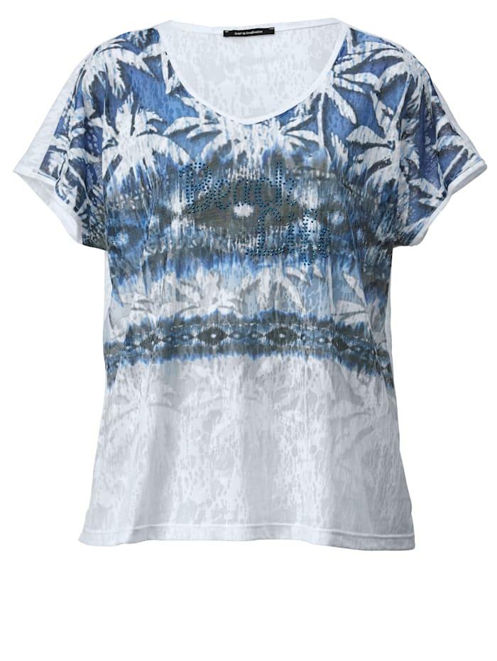 Shirt in Ausbrenner-Optik