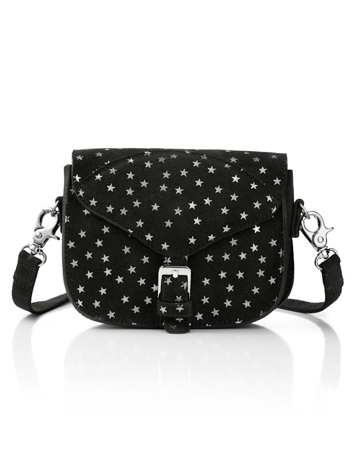 Alba Moda Väska – kan bäras på tre sätt, svart/silverfärgad