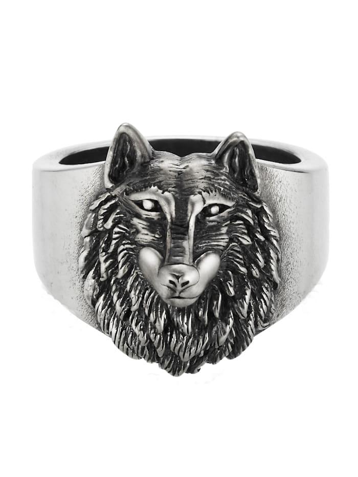 CAI Ring 925/- Sterling Silber ohne Stein Matt/Glanz 925/- Sterling Silber, Silbergrau