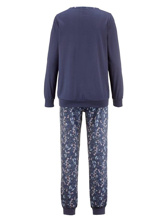 Pyjamas med mönstrad bröstficka