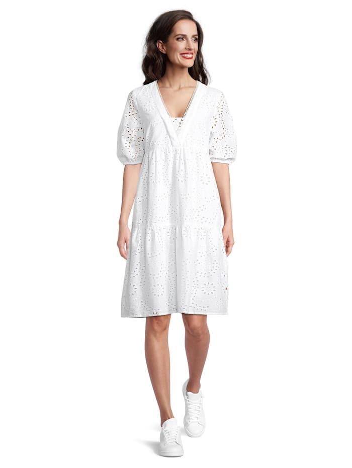 Vera Mont Sommerkleid mit Muster, Weiß