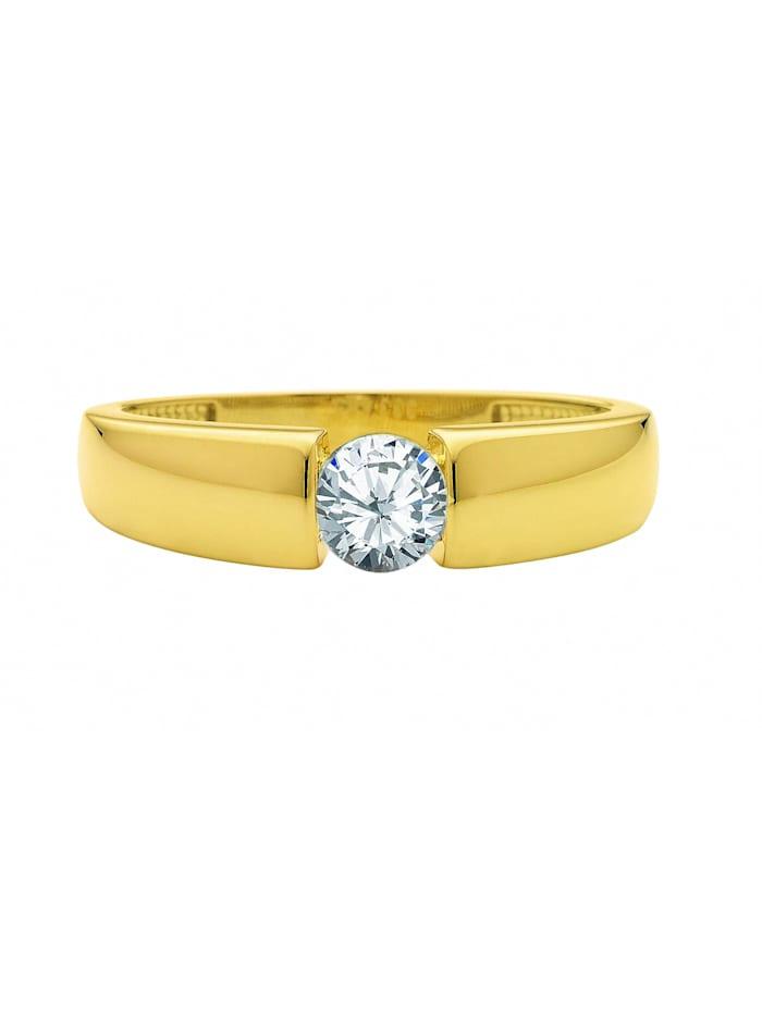 1001 Diamonds 1001 Diamonds Damen Goldschmuck 333 Gold Ring mit Zirkonia, gold