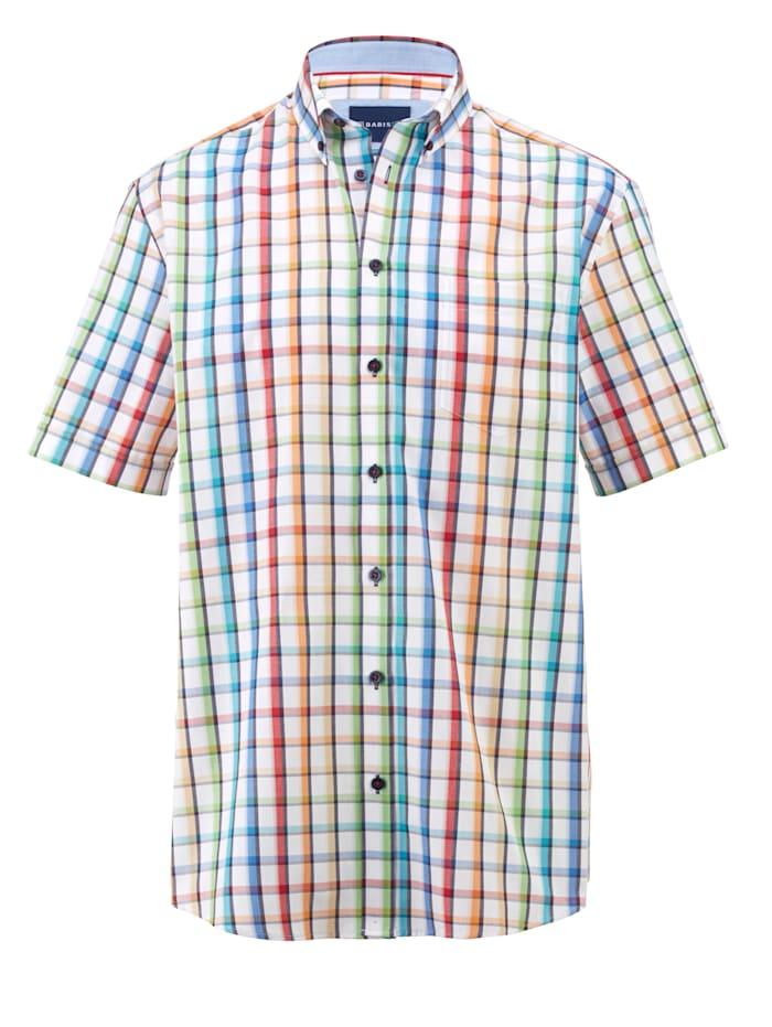 BABISTA Overhemd met borstzak, Wit/Multicolor