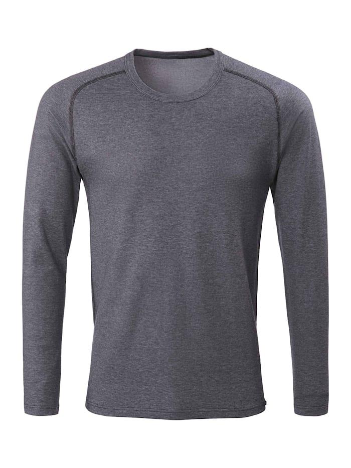 Calida Funktions-Langarm-Shirt Ökotex zertifiziert, dark moon melé