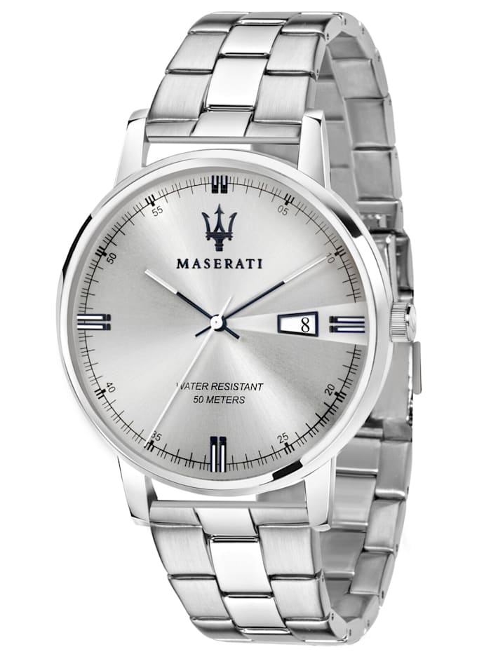 Maserati Herren-Armbanduhr Eleganza, Silberfarben