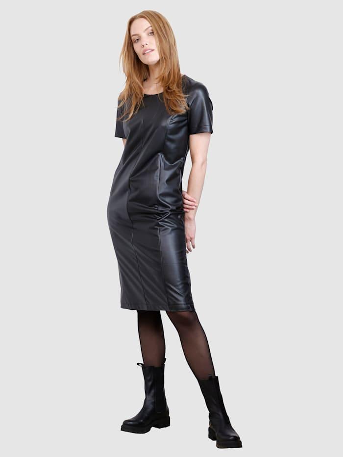 Laura Kent Kleid in modischer Form, Schwarz