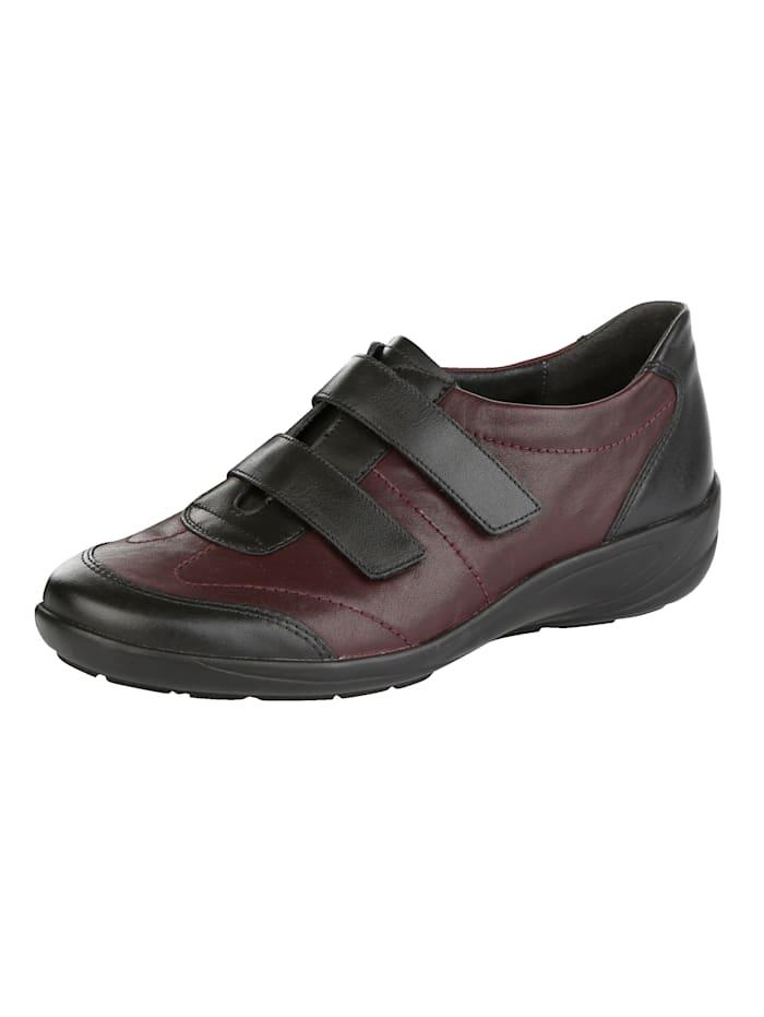 Semler Velcro Straps Shoes In a classic design, Black/Bordeaux
